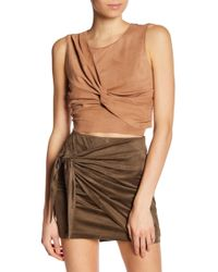 Dress Forum - Faux Suede Twisted Tank - Lyst