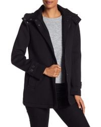 Kenneth Cole - Funnel Neck Hooded Coat - Lyst