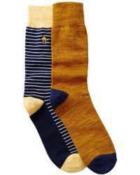 Original Penguin   Balboa & Atrium Crew Socks - Pack Of 2   Lyst