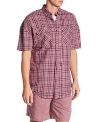 Zanerobe - Rugger Windowpane Short Sleeve Regular Fit Shirt - Lyst