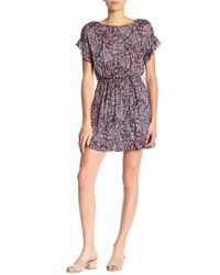 William Rast - Sachi Ruffled Floral Dress - Lyst