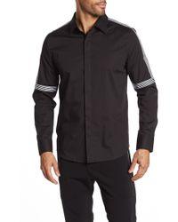 b11470fce7 Karl Lagerfeld - Tape Striped Long Sleeve Modern Fit Shirt - Lyst