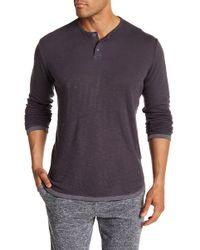 Velvet By Graham & Spencer - Long Sleeve Knit Solid Shirt - Lyst