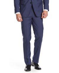 "Brooks Brothers - Dark Blue Sharkskin Wool Regent Fit Suit Separates Trouser - 30-34"" Inseam - Lyst"