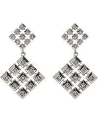 House of Harlow 1960 - Embellished Grid Square Drop Stud Earrings - Lyst