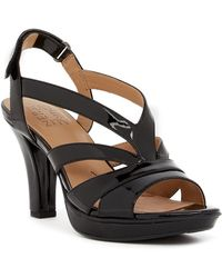 Naturalizer - Delfinia Leather Heel Sandal - Wide Width Available - Lyst