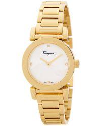 Ferragamo - Women's Salvatore Lady Diamond Bracelet Watch - 0.004 Ctw - Lyst