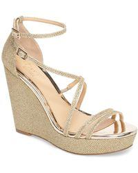 Badgley Mischka - Tatsu Wedge Sandal (women) - Lyst