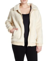 Glamorous - Cozy Faux Shearling Jacket (plus Size) - Lyst