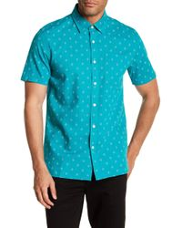 Jack Spade - Diamond Quad Short Sleeve Linen Blend Shirt - Lyst
