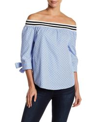 Blank NYC - Stars & Stripes Off-the-shoulder Top - Lyst