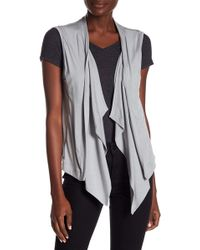 Go Couture - Sleeveless Cardigan - Lyst