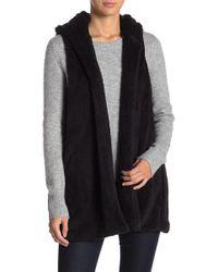 FAVLUX - Janina Faux Fur Hooded Vest - Lyst