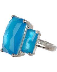 Ippolita - Rock Candy Sterling Silver 3-quartz Baguette Set Ring - Size 7 - Lyst