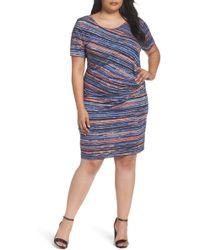 Three Dots | Painterly Stripe Sheath Dress | Lyst