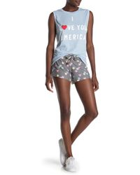 85698de29f Wildfox High Rise Beach Butt Denim Shorts With Frayed Edge & Exposed Pockets  in Blue - Lyst