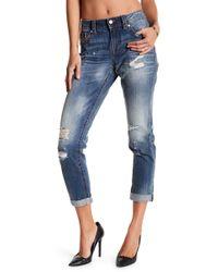 Miss Me - Boyfriend Distressed Ankle Jeans - Lyst