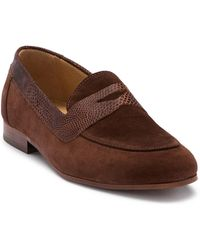 H by Hudson - Follen Suede Penny Loafer - Lyst