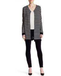 Joan Vass - Striped Sweater Coat - Lyst