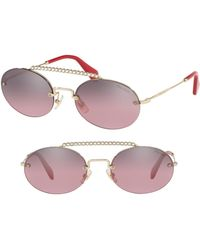 Miu Miu - Evolution 54mm Rimless Round Sunglasses - Lyst