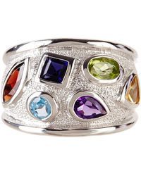 Liberty - Sterling Silver Multi-gemstone Mosaic Ring - Lyst