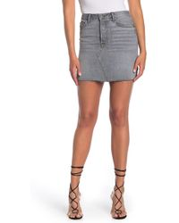 quite nice famous designer brand clear and distinctive Blaire High Rise Denim Skirt - Blue