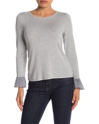 Vince Camuto - Mixed Media Sweater (petite) - Lyst