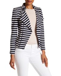 Insight - Striped French Terry Moto Jacket - Lyst