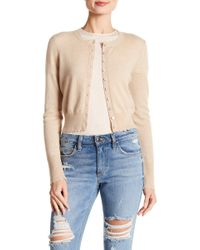 Minnie Rose - Frayed Edge Cropped Cashmere Cardigan - Lyst