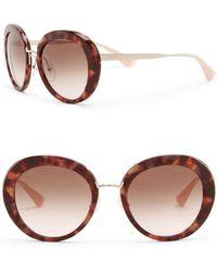 b12539b245b Lyst - Prada Women s Oversized Metal Frame Sunglasses