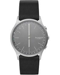Skagen   Men's Jorn Hybrid Smakrt Leather Strap Watch, 41mm   Lyst
