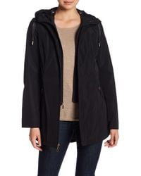 Laundry by Shelli Segal - Hooded Drawstring Waist Jacket - Lyst