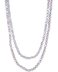 Splendid - Endless Dyed Baby Blue 8-9mm Cultured Freshwater Pearl Necklace - Lyst