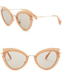Miu Miu - Butterfly 52mm Acetate Frame Sunglasses - Lyst