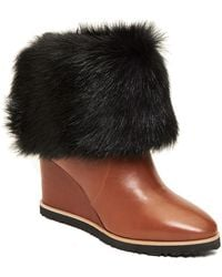 Taryn Rose - Massima Genuine Dyed Long Hair Lamb Fur Lined Pull-on Boot - Lyst