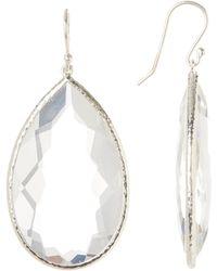 Ippolita - Rock Candy Sterling Silver Faceted Clear Quartz Teardrop Earrings - Lyst