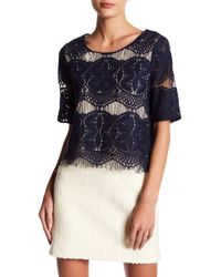Skies Are Blue - Hem Scallop Lace Top - Lyst
