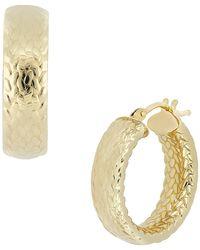 Bony Levy - 14k Yellow Gold Medium Textured Huggies Earrings - Lyst