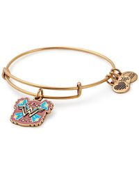 ALEX AND ANI - Peace & Love Wonder Woman Wire Charm Bracelet - Lyst