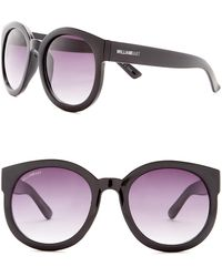 William Rast - Women's 53mm Round Sunglasses - Lyst