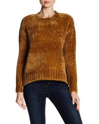 Philosophy Cashmere - Chenille Crew Neck Sweater - Lyst