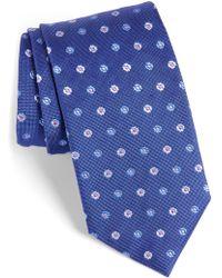 David Donahue - Neat Floral Medallion Silk Tie - Lyst