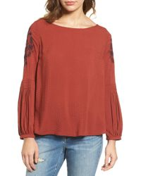 Hinge - Embroidered Blouse - Lyst