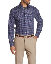 Robert Talbott - Crespi Iv Checkered Long Sleeve Tailor Fit Shirt - Lyst