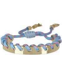 Rebecca Minkoff - Climbing Rope Whipstitch Cuff Bracelet - Lyst