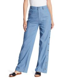 Honey Punch - Snap Button High Waist Pants - Lyst