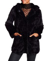 Kenneth Cole - 'teddy Bear' Faux Fur Hooded Coat - Lyst