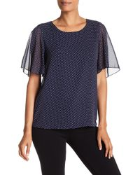 Pleione - Double Layer Flutter Sleeve Top - Lyst