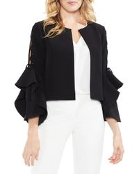 Vince Camuto - Lace-up Ruffle Sleeve Jacket - Lyst