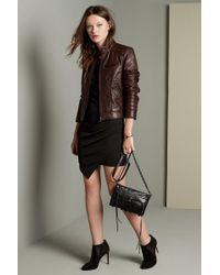 Bernardo - Quilted Leather Moto Jacket (regular & Petite) - Lyst